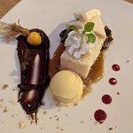 Fig & cake desert (tasted like jam)