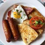 The Fry - Egg, Bacon, Sausages, Soda Bread, Potato Bread and Tomato