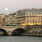 sunset of the Latin quarter besides river Seine