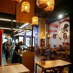Ramen Shifu. Interior de la taberna.