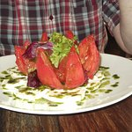 A substantial starter! 'Beef-heart' tomato.