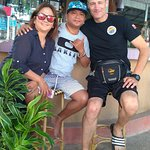 Alona Divers - post dive beers with my mentor and dear friend, Don Don and his lovely wife, Chur