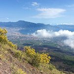 View from crater of Vesuvius.