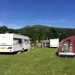 Our campsite on the outskirts of Ambleside