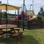 Enjoy outside dining with our new extended outside dining area and childrens play area