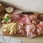 The best plate of Tuscany cold cuts I've ever tasted.