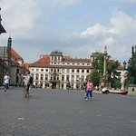 The main square in front to the Castle