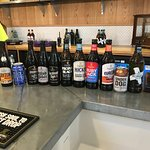 The selection of beers we got to try as part of the tour tasting experience