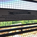 Bear habitat sign at Three Bears