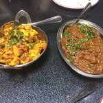 Aloo Gobi and Chicken Rogan