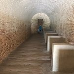 Tunnels and passages in Fort Pickens.
