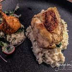 Chicken supreme, risotto,tarragon, baby spinach