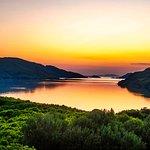 Sunset at Kylemore Abbey Lake