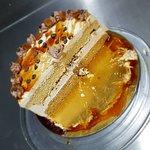 Nuestros postres... tarta de toffee y caramelo!