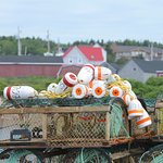 Buoys and lobster traps