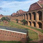 Inside of Fort Jefferson - all made of brick!