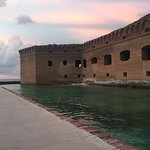 Fort Jefferson moat & outer wall