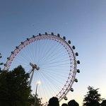 London Eye at sunset.