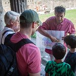 Our guide, Andrea introducing us to Pompeii!