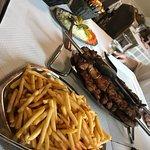 frites viandes et légumes pour 3 personnes