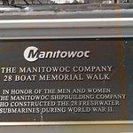 First plaque describing the submarines