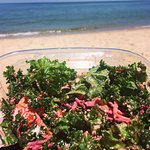 Kale & beetroot caesar salad...