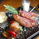 Chapa de Picanha com legumes e arroz
