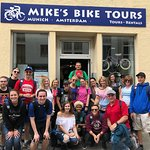 Our group in Munich with Matt Grieves after our bike tour