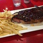 Huge pork steak