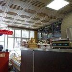 Inside the deli restaurant