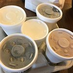 To-go Coffee w/ cold beverage lids at Pancake Pantry
