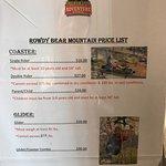 Rowdy Bear Prices 2018