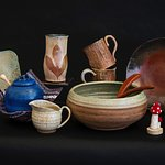 Local pottery from artisans allover New Hampshire, Massachusetts and Vermont!