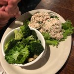 tuna plate with broccoli side - outstanding