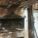 this is the historic oven, built well over a hundred years and still in use today.