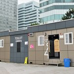 Public toilets next to Haeundae Beach.
