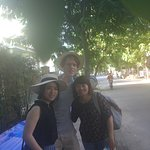 A picture after the tour with our guide, Silk!