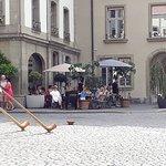 Local musicians performin at Rathaus square