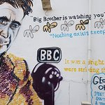 part of the george orwell mural