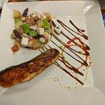Salmon & peruvian salad
