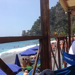 On the smaller beach at Positano
