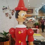 We have lots of Pinocchios in the restaurant - how many can you see?