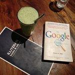 A good book to read, mint lemonade at Illiterati and good company