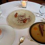 Desserts - Strawberry Souffle & Milk Chocolate Tart