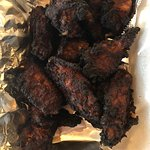 Burnt chicken wings