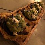 patacones with guacamole