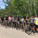 Mountain bike adventure with a local business group.