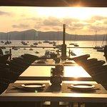 Sunset on the restaurant balcony