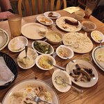 3 men, 3 main dishes, 14 sides!