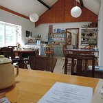 Inside the cafe on the quay